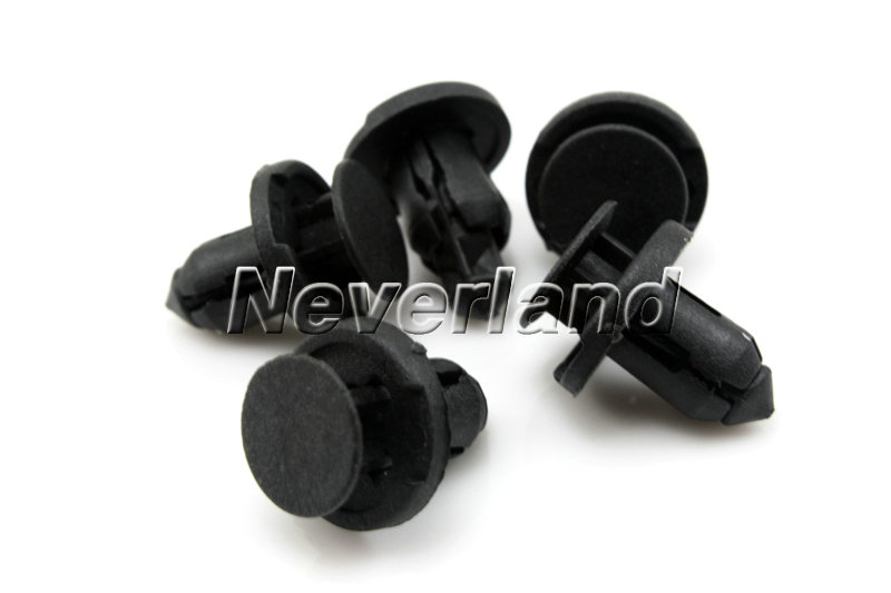 25 x car auto 8mm dia hole plastic trim boot rivets push clip black honda acura. Black Bedroom Furniture Sets. Home Design Ideas