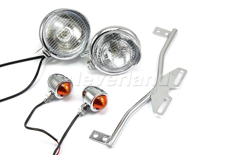 spotlight bar lightbar fernlicht blinkern f  honda vt 750 1100 vtx1300 shadow